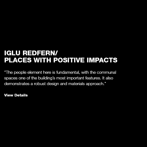 Iglu Redfern: Places with Positive Impacts
