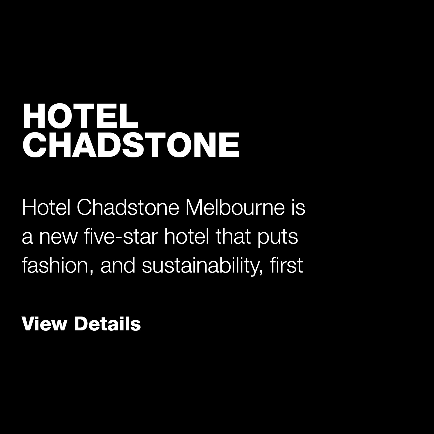 Hotel Chadstone / Indesign Live