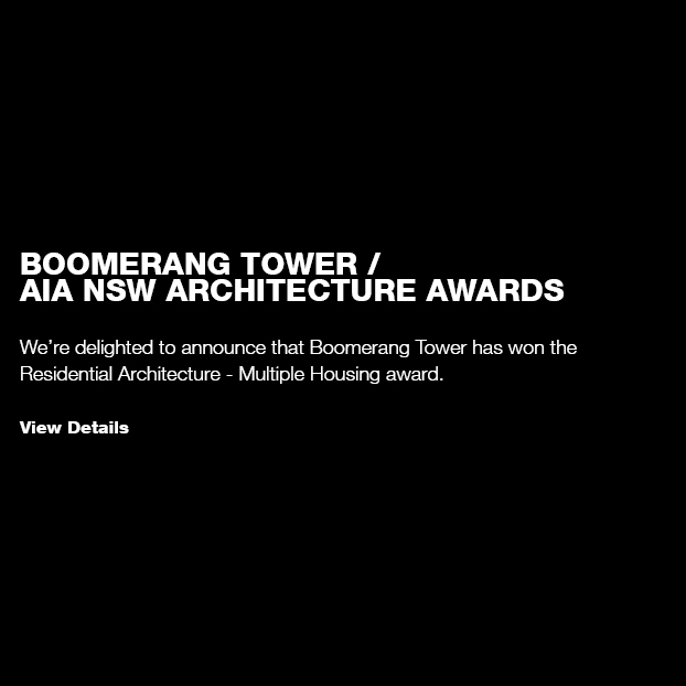 Boomerang Tower / AIA NSW Architecture Awards